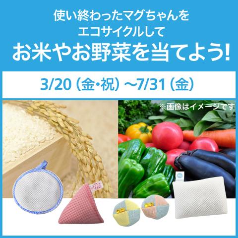 使い終わったマグちゃんをエコサイクルして、お米やお野菜を当てよう!3/20(金・祝)~7/31(金)