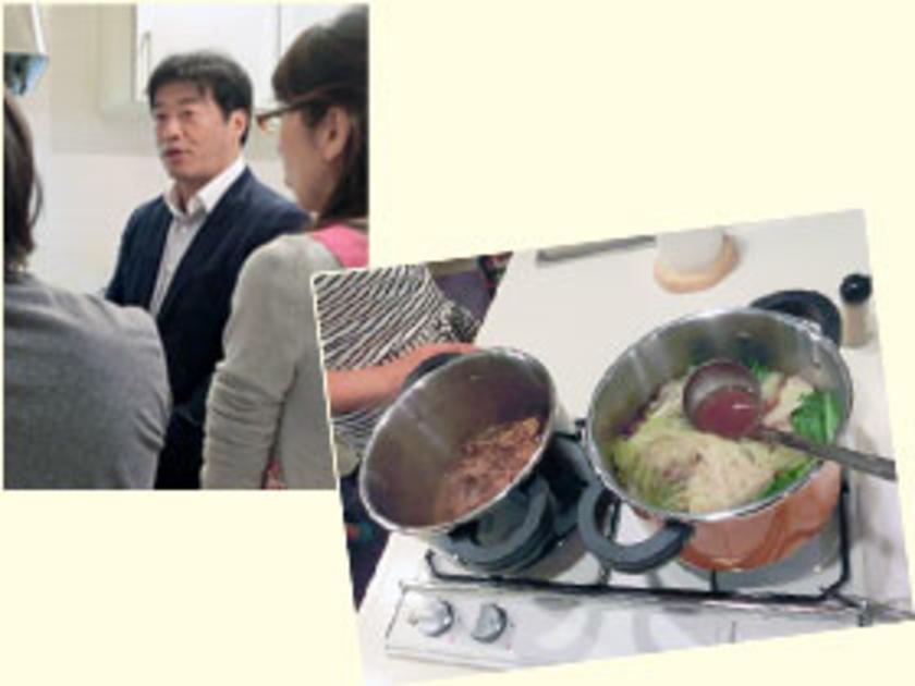 会場にはワンダーシェフ社長の伊藤さんも来ていただき、圧力鍋の構造や使い方のコツをわかりやすく教えてくださいました。
