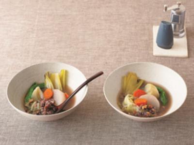 ②「野菜と雑炊のスープ」