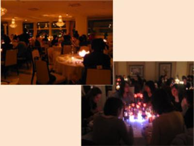 参加者全員で火をつなぐ「キャンドルリレー」と無数のキャンドルが灯る中での「キャンドルディナー」をお楽しみいただきました