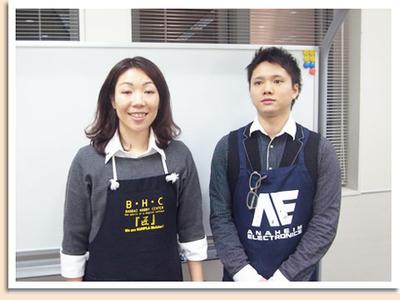 福本先生とアシスタントの若林さん!抜群のコンビネーションが光りました~。