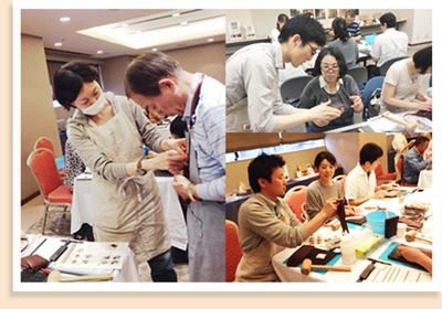 アシスタントをしていただいたのは、左から大澤さん、岡田さん(東京会場)、安藤さん(大阪会場)。