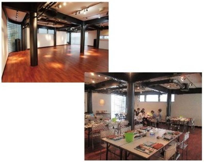 会場は原宿のthe sad cafe studioさん。アメリカンカフェの2階が貸しスタジオになっている面白いところで、木の床がステキです!