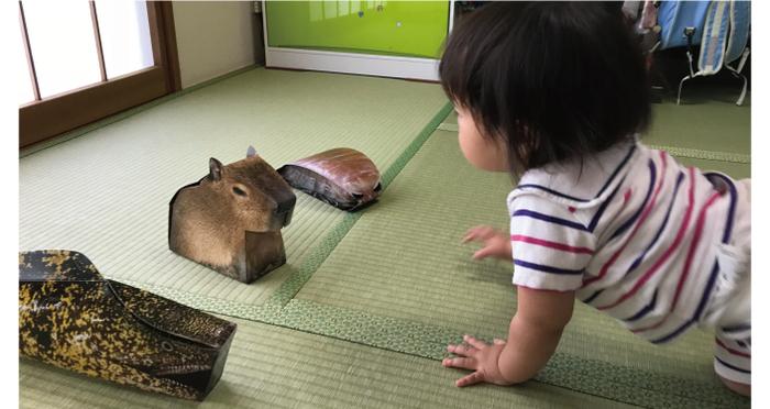 生まれて初めて見るグソクムシに、1歳5カ月の赤ちゃんは何を語りかけるのか?