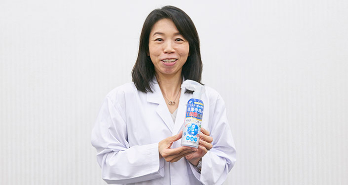 Stays Clean for a Week! An Interview With the Developer of Etak®︎ Antibacterial Spray α on How it Maintains its Antibacterial Effect